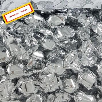סוכריות יהלום עם עטיפה כסופה