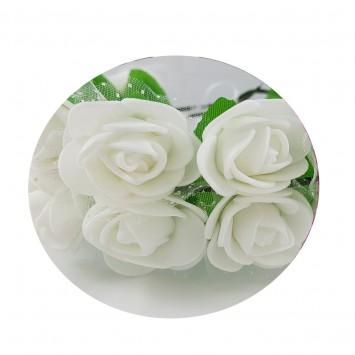 זר פרחי סול לבנים