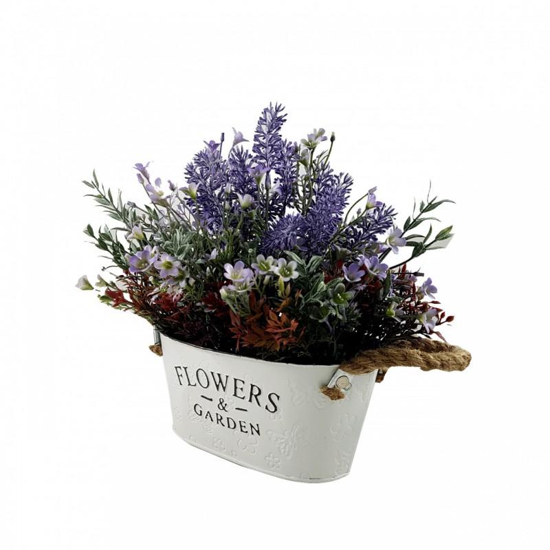 אדנית עם סידור פרחים