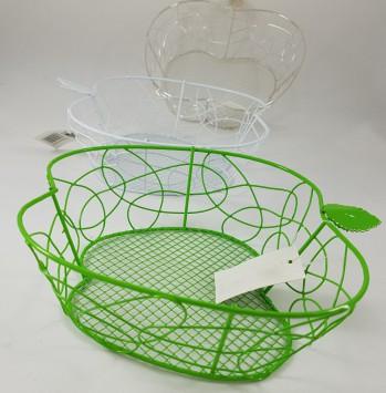 קערת מתכת רשת ירוקה בצורת תפוח