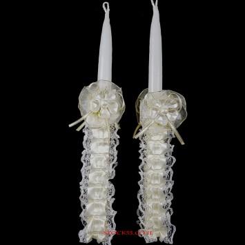 זוג נרות מעוצבים לקערת חינה( להמחשה בלבד)