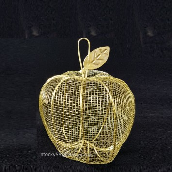 תפוח רשת מתכתי בצבע זהב