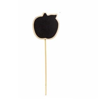 12 לוחות גיר בצורת תפוח ירוק על שיפוד