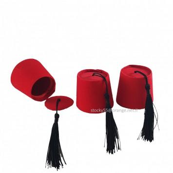כובע תרבוש אדום עם מכסה - מתנה לאורחים באירוע