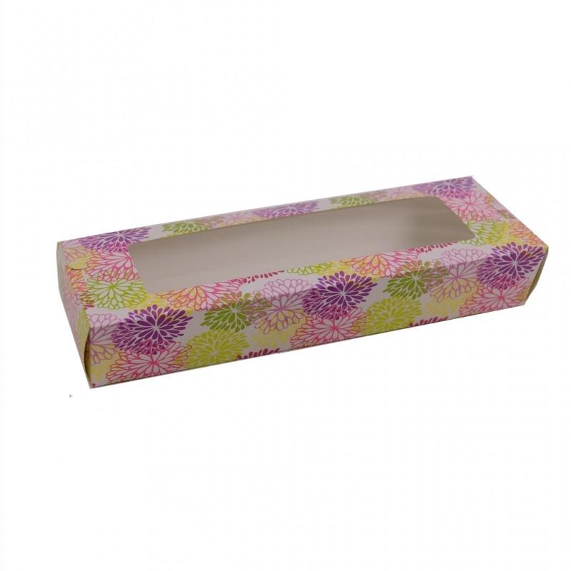 קופסת קרטון עם מכסה שקוף לעוגת  פס