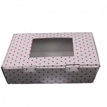 קופסת קרטון עגולה עם מכסה שקוף
