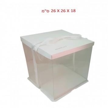 קופסה שקופה לעוגה גבוהה