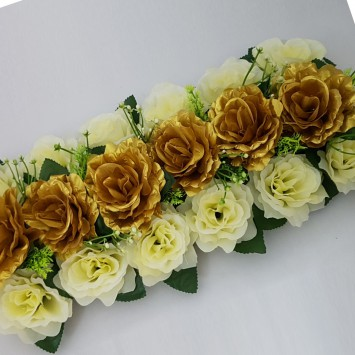 סידורי פרחים מלבני לשולחן