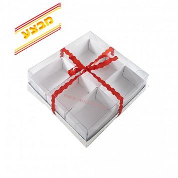 מבצע 10 קופסאות מחולקות ל 6 תאים  עם מכסה