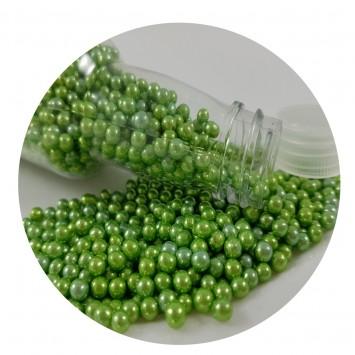 סוכריות פנינים ירוקות מטאלי