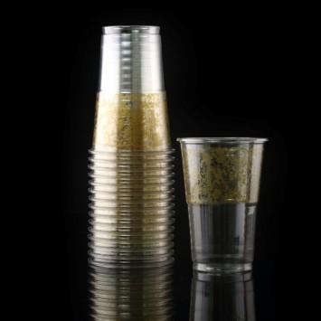 כוסות  חד פעמיות איכותיות מעוטרות זהב