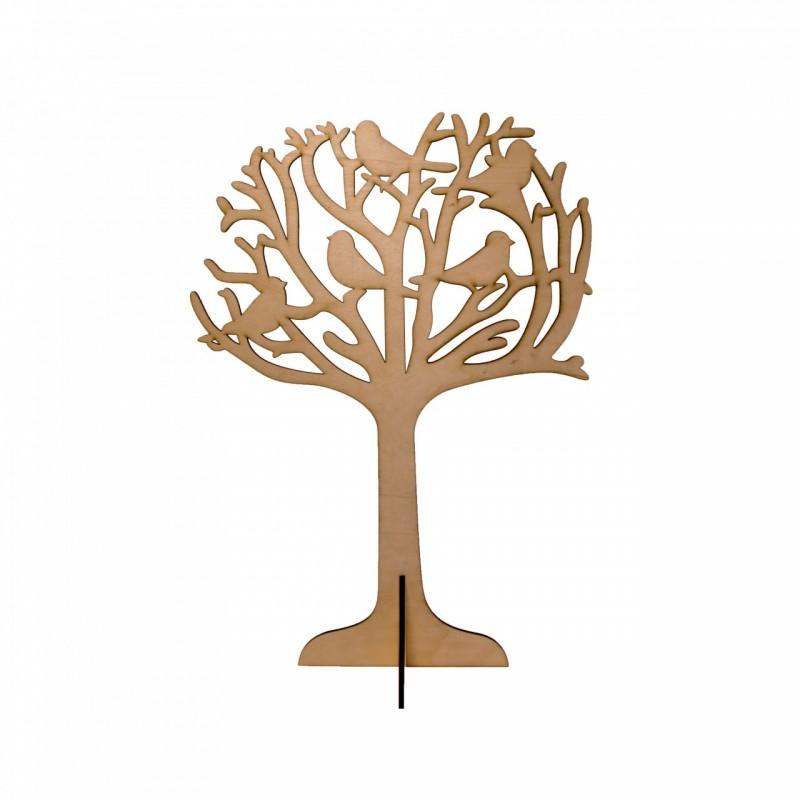 מעמד לשולחן דגם עץ שענפיו משמשים כסטנדים  לתליה והצגה