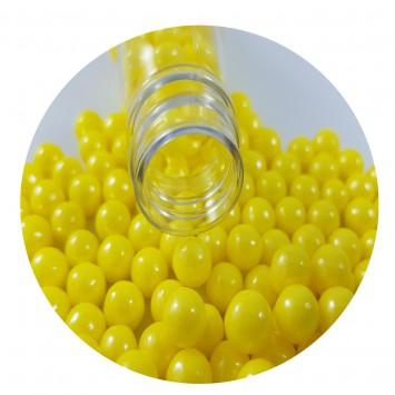 סוכריות פנינים צהובות מטאלי