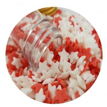 סוכריות כוכבים אדום לבן