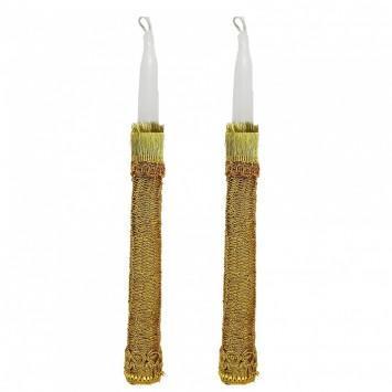 זוג נרות בעבודת יד