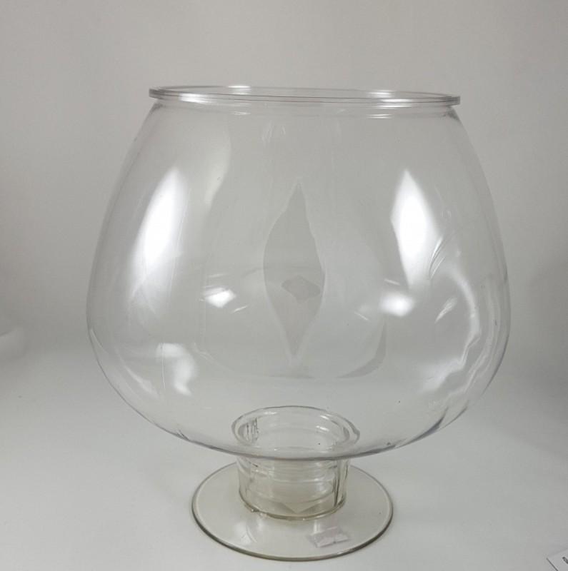 קערת פלסטיק על רגל - דגם גביע שמפניה