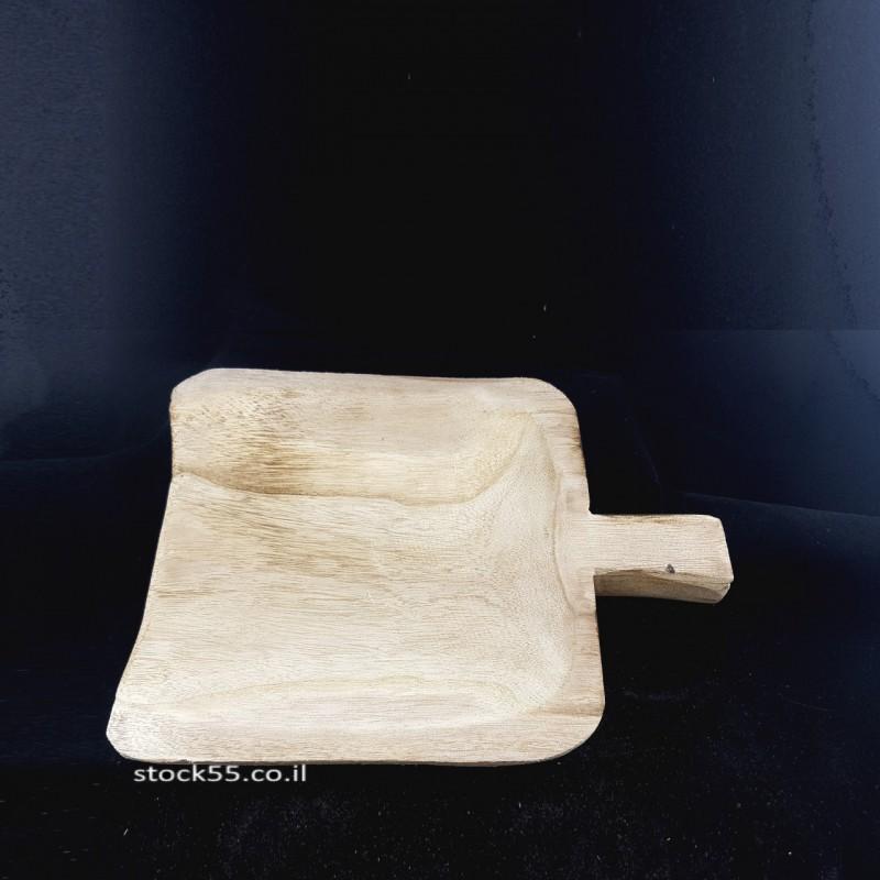 מגש בול עץ דגם כף הגשה