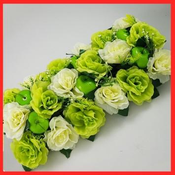 סידור פרחים ותפוחים  לראש השנה