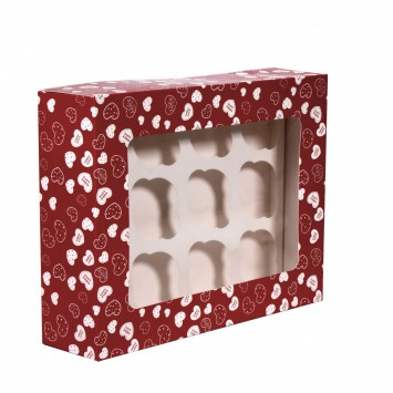 קופסה עם במה ל 12 קאפקייקס