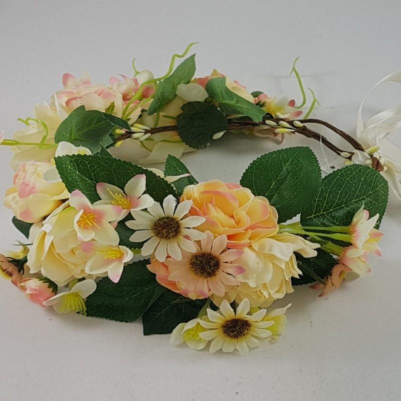 זר פרחים עם סגירה גמישה המאפשרת התאמה לכל ראש