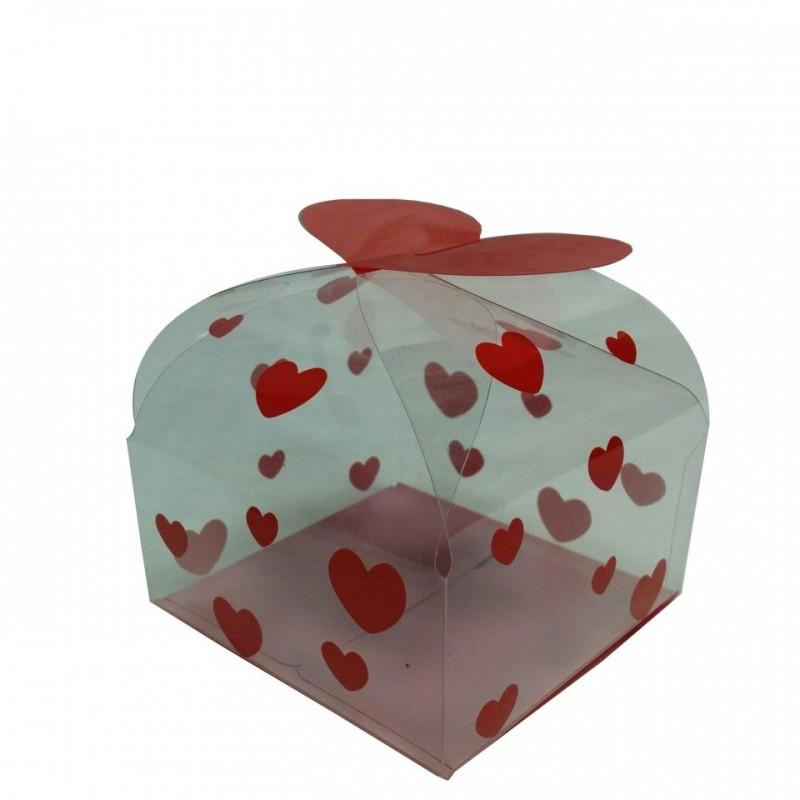 קופסה שקופה  - לב אדום